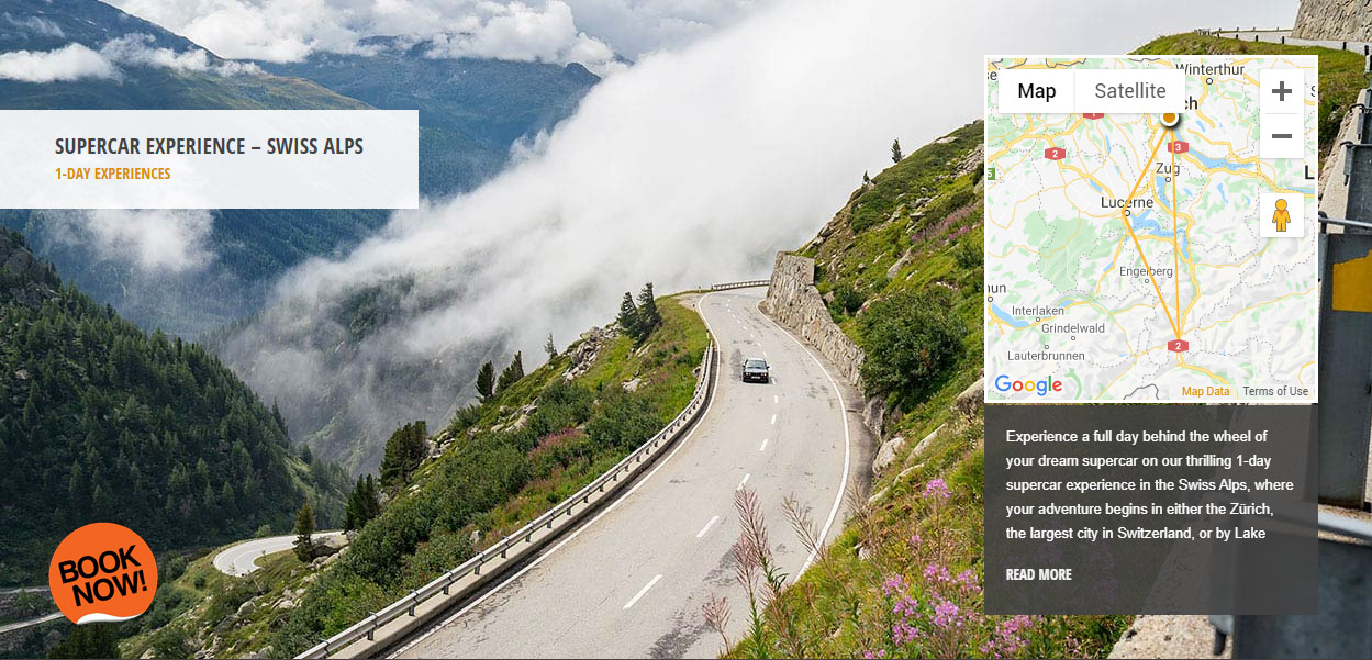 Supercar driving experience Furka Pass