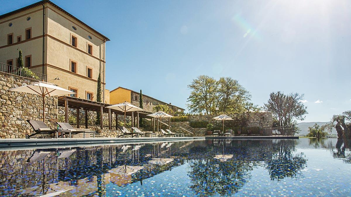 Castello di Casole pool