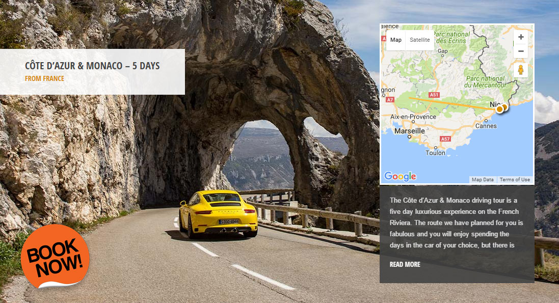 Supercar Hire Monaco - Monaco Grand Prix Driving Tour Package