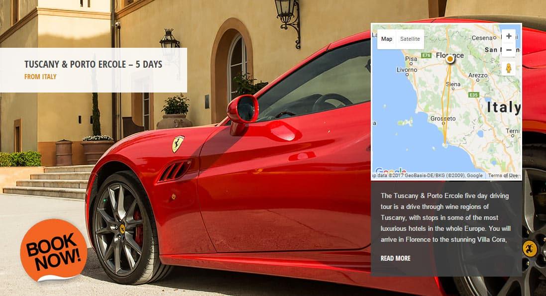 Tour Tuscany in a Ferrari - Tuscany Ferrari Rental