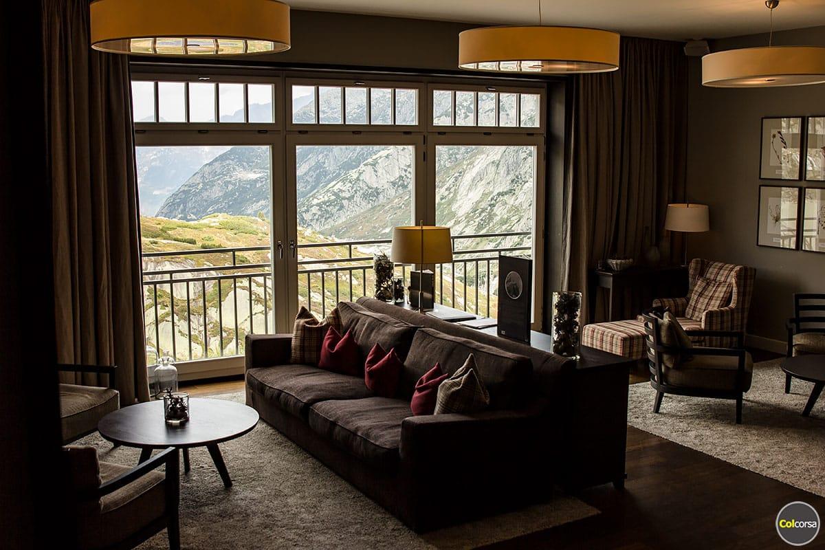 Hotel Grimsel Hospiz - lounge area