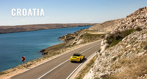 Croatia corporate incentive supercar tour