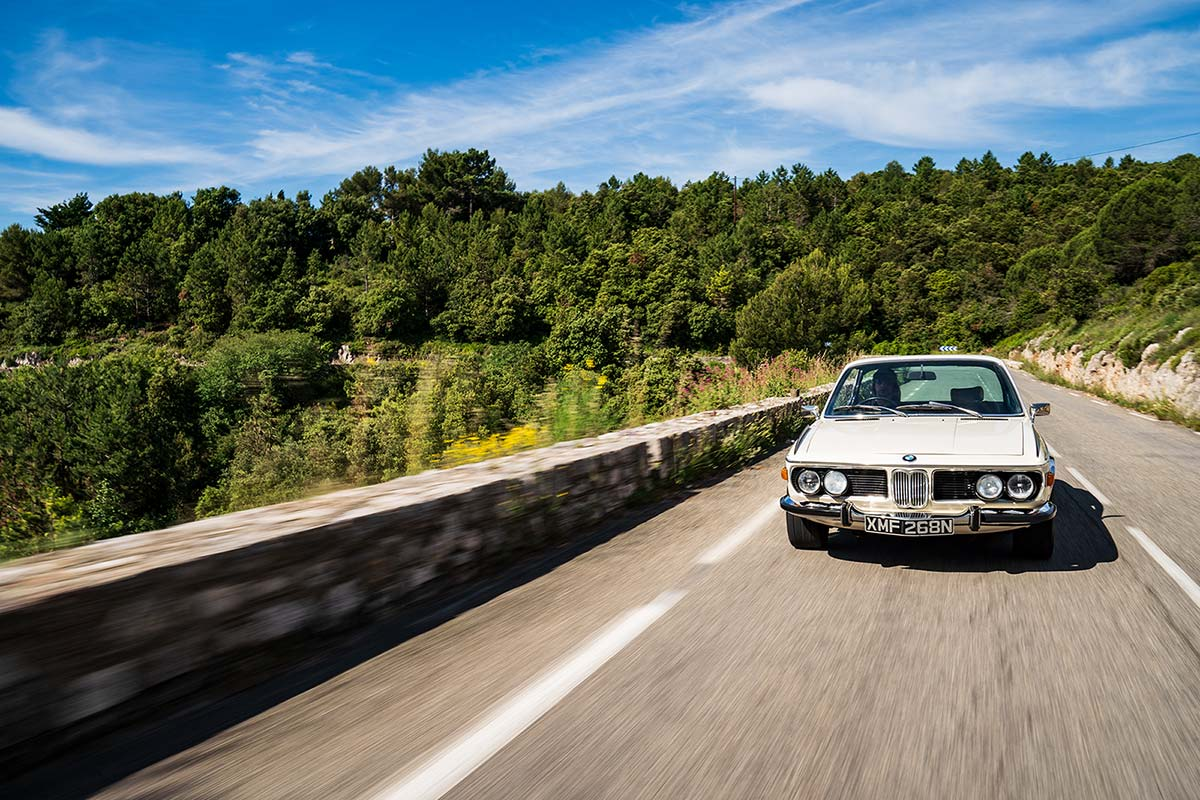BMW E9 3.0 CSL - Classic Car Hire & Tours Riviera / Monaco