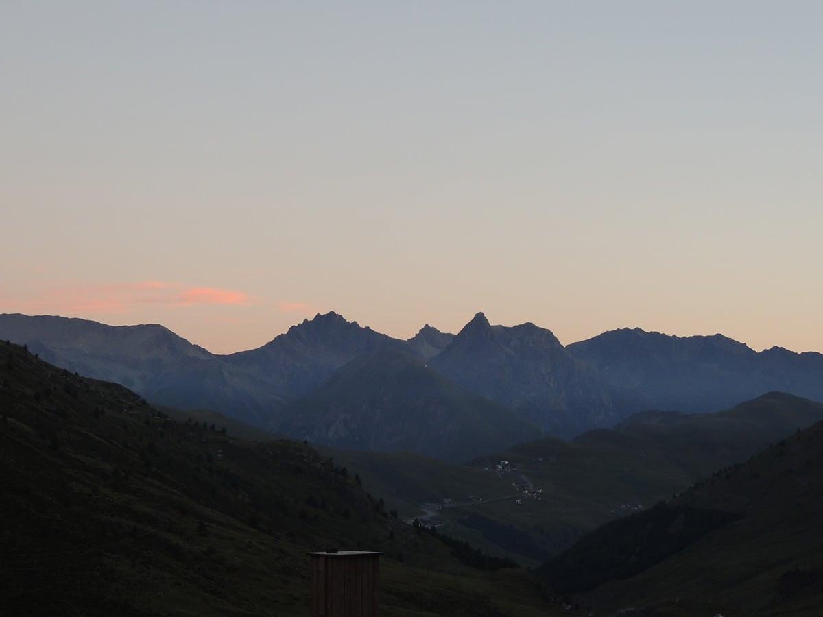Stelvio Pass morning sunrise