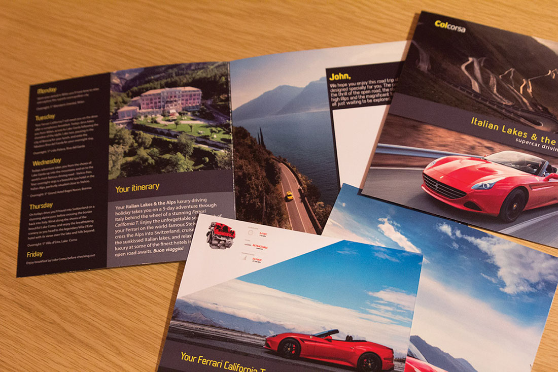 Colcorsa luxury driving tour in a Ferrari - gift card