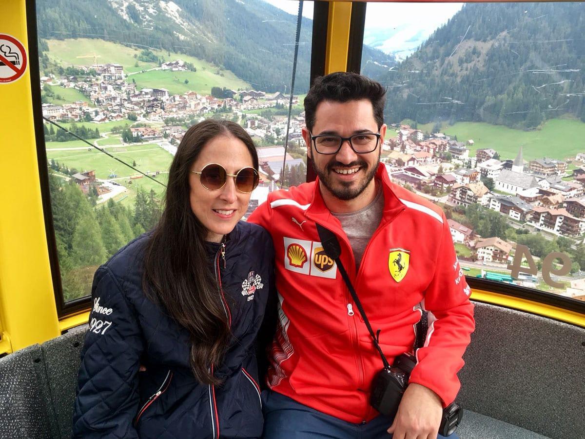 Dolomites - Emily & Adam Piz boe cable car