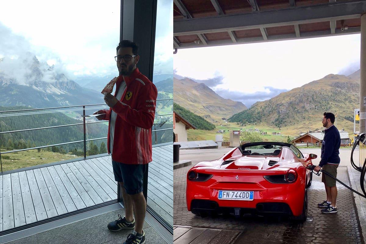 Ferrari Honeymoon Italy - Ferrari 488 Spider - Dolomites