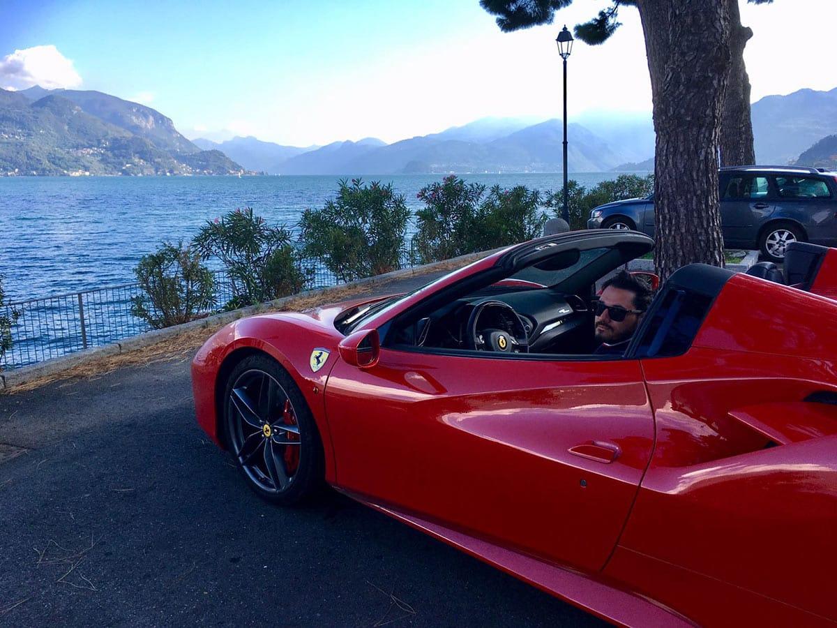 Ferrari Honeymoon Italy - Ferrari 488 Spider - Lake Como