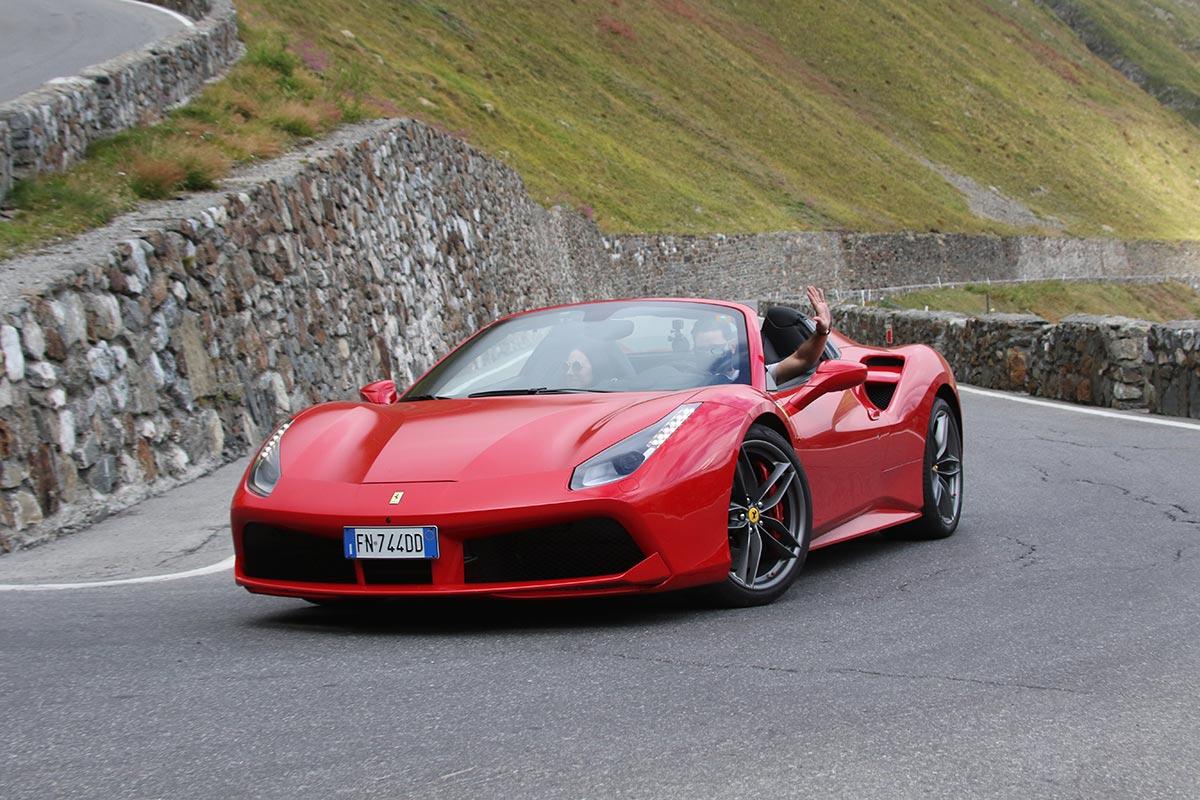 Ferrari Honeymoon Italy - Ferrari 488 Spider - Stelvio Pass
