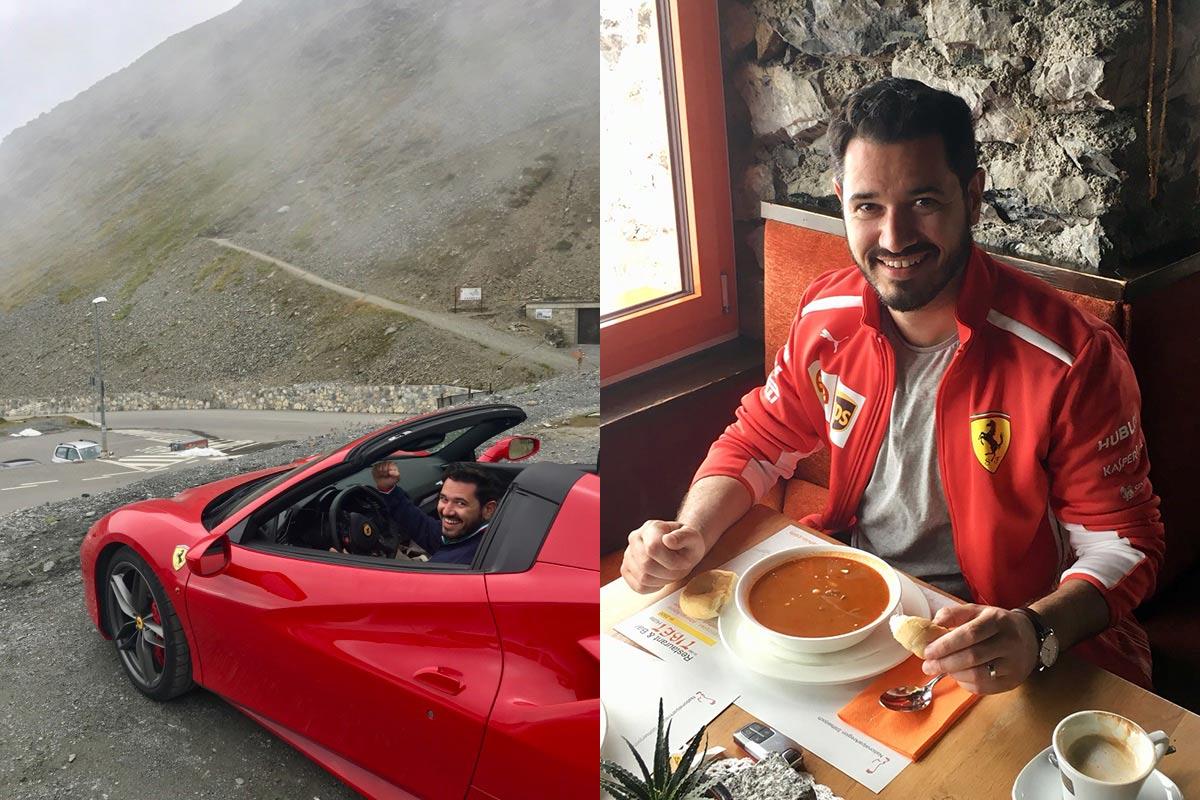 Ferrari Honeymoon Italy - Ferrari 488 Spider - Stelvio Pass Lunch