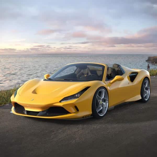 Ferrari F8 Spider Silver: Ferrari-F8-Spider-Hire-Rent-Europe
