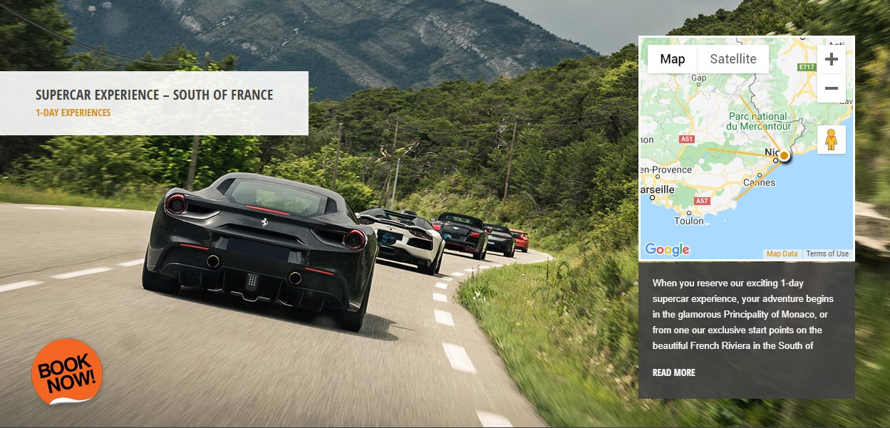 Route Napoleon - 1 day supercar driving experience