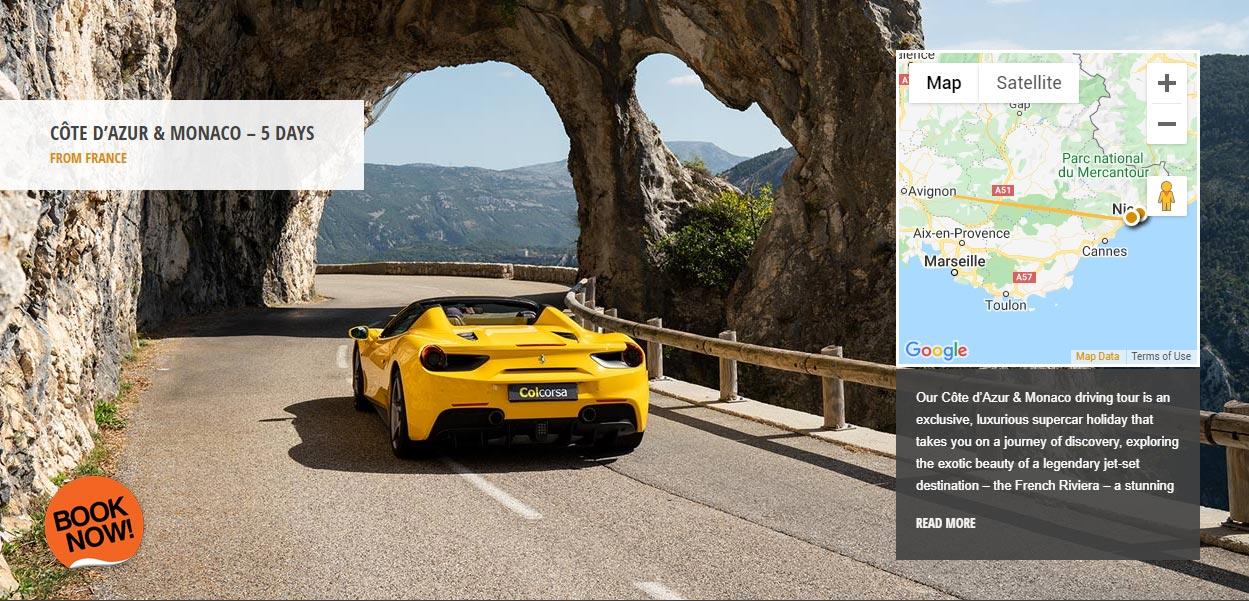 Verdon Gorges supercar driving tour