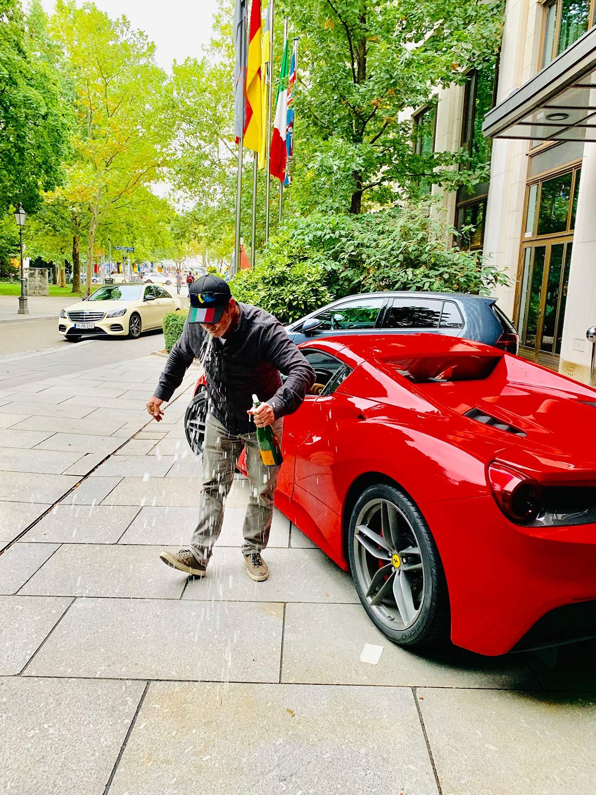 Birthday Ferrari driving tour