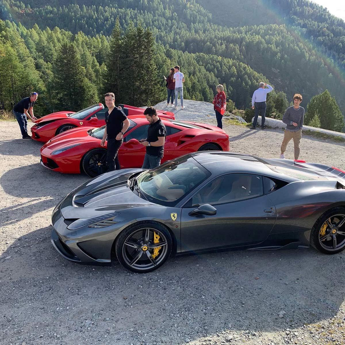 Ferrari birthday tour in Europe