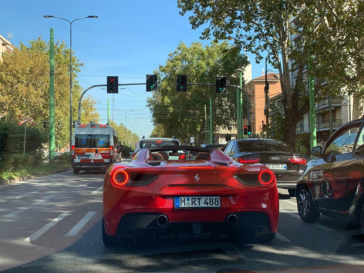 Ferrari traffic jam