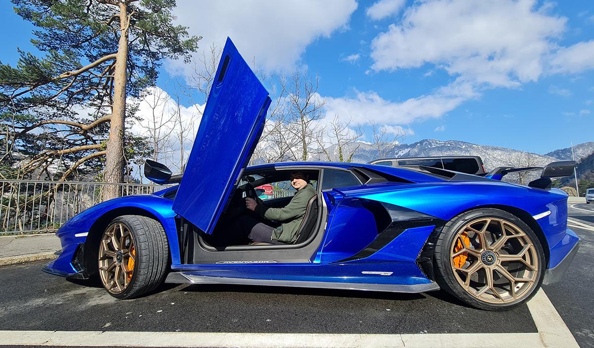 Rent a Lamborghini Aventador SVJ in Europe