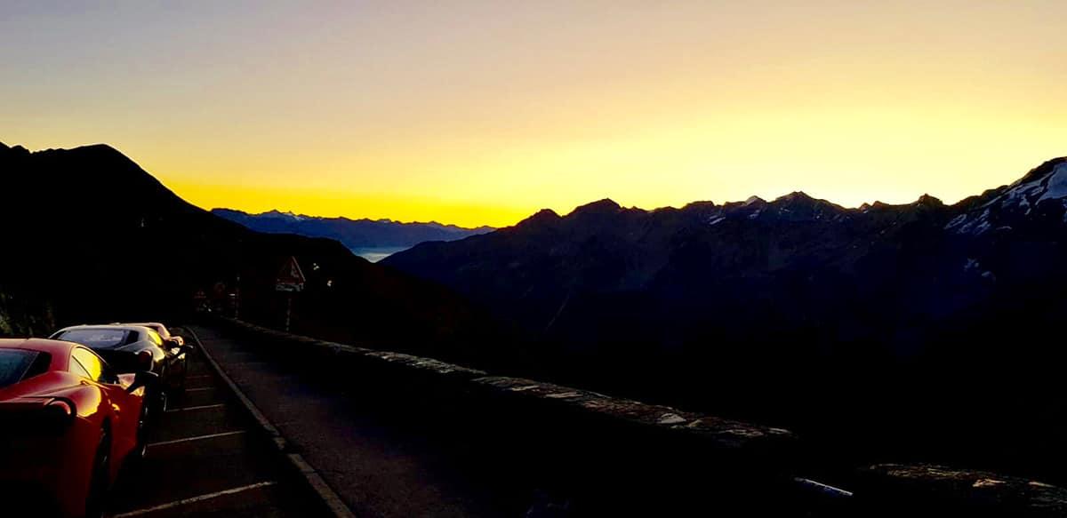 Stelvio Pass before sunrise