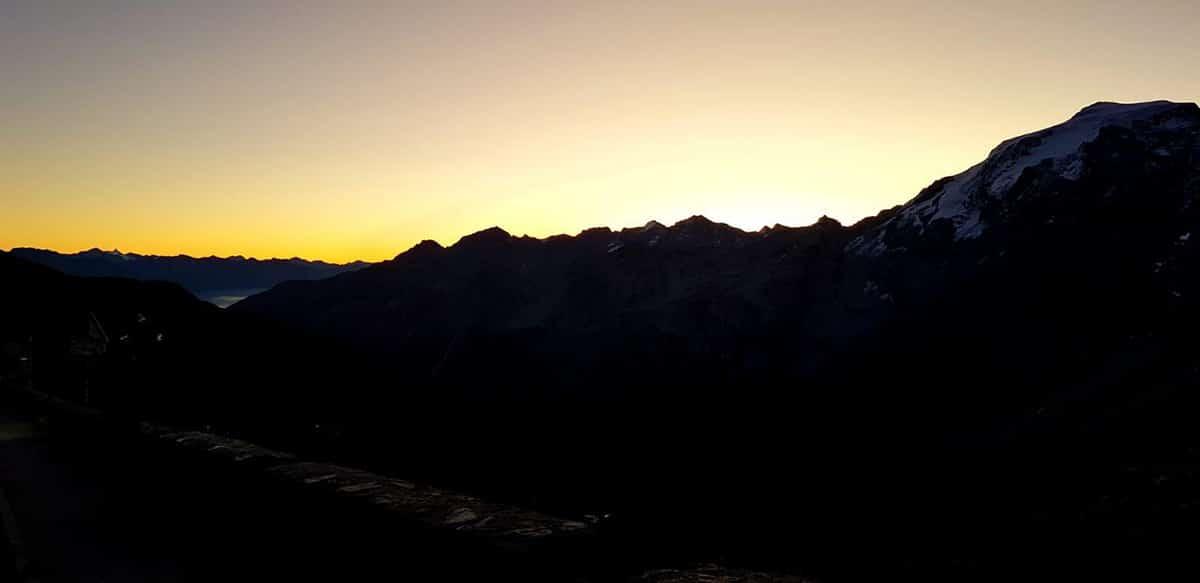 Stelvio Pass at dawn