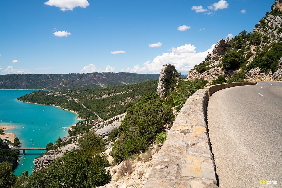 Verdon gorge road in Provence